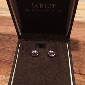 Pandora Amethyst Sterling Silver Earrings